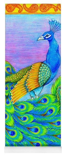 Pretty Peacock Yoga Mat