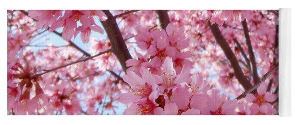 Pretty Pink Cherry Blossom Tree Yoga Mat