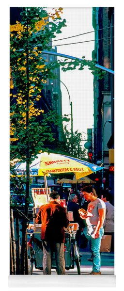Hot Dog Stand Nyc Late Afternoon Ik Yoga Mat