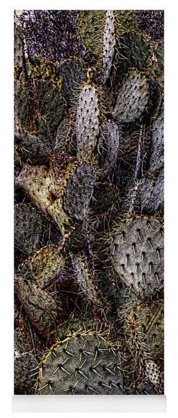 Prickly Pear Cactus At Tonto National Monument Yoga Mat