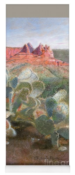 Yoga Mat featuring the painting Prickly Pear In Sedona, Arizona by Nancy Lee Moran