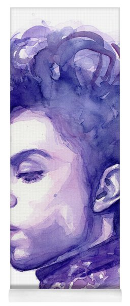 Prince Musician Watercolor Portrait Yoga Mat