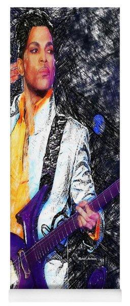Prince - Tribute With Guitar Yoga Mat