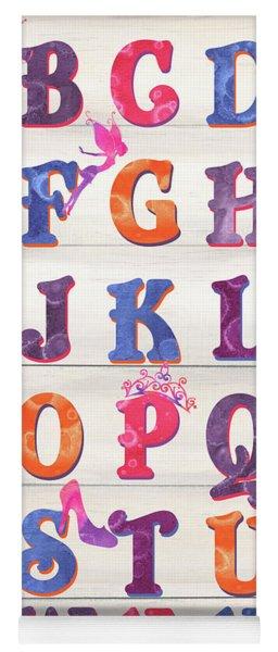 Princess Alphabet Yoga Mat