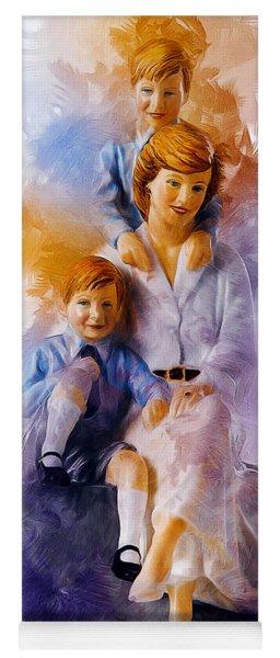 Princess Diana And Children Yoga Mat