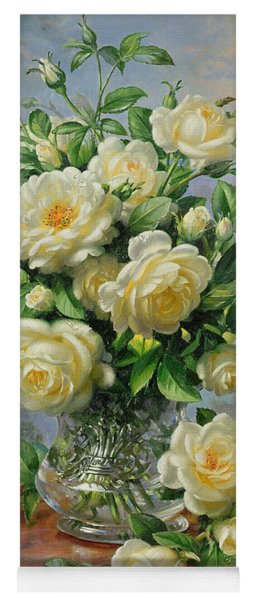 Princess Diana Roses In A Cut Glass Vase Yoga Mat