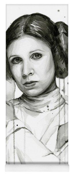 Princess Leia Portrait Carrie Fisher Art Yoga Mat