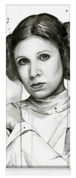Princess Leia Portrait Carrie Fisher Art Yoga Mat