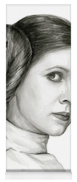 Princess Leia Watercolor Portrait Yoga Mat