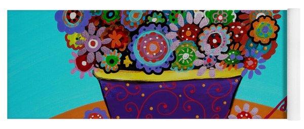 Pristine Flowers Yoga Mat