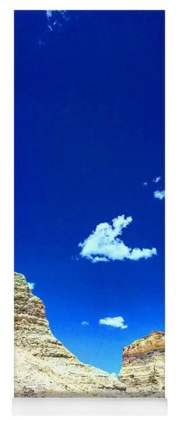 Pristine Sky Meets Historic Rocks Yoga Mat