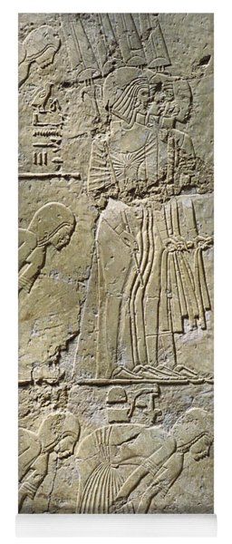 Private Tombs -painting West Wall Tomb Of Ramose T55 - Stock Image - Fine Art Print - Thebes Yoga Mat