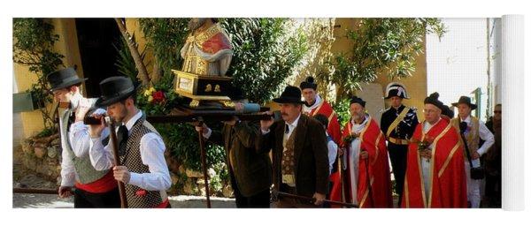 Procession Of Saint Clement Yoga Mat