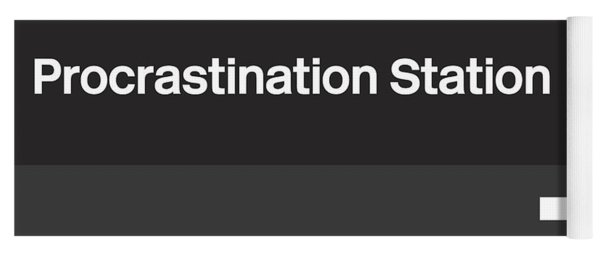 Procrastination Station- Art By Linda Woods Yoga Mat