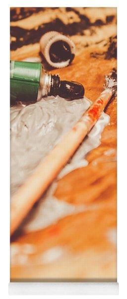 Progress Of Oil Painting Yoga Mat