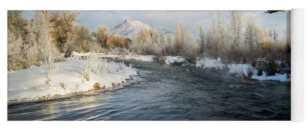 Provo River In Winter Yoga Mat