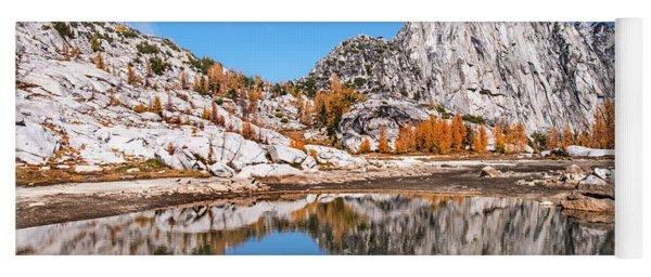 Prusik Peak Reflected In Gnome Tarn Yoga Mat