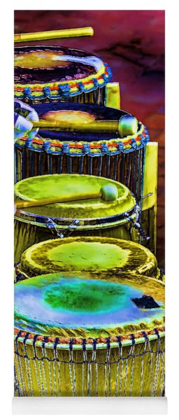 Psychedelic Drums Yoga Mat