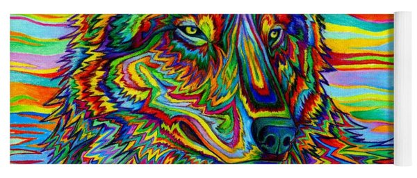 Psychedelic Wolf Yoga Mat