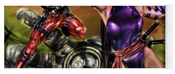 Psylocke And Deadpool Yoga Mat