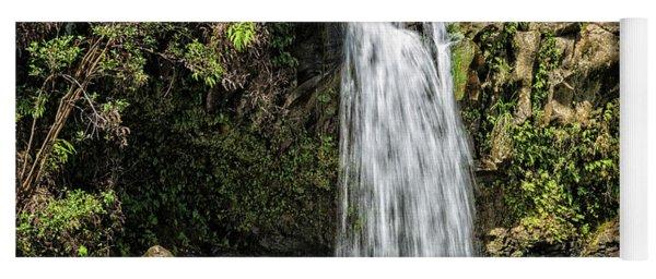 Yoga Mat featuring the photograph Pua'a Ka'a Falls by Jim Thompson