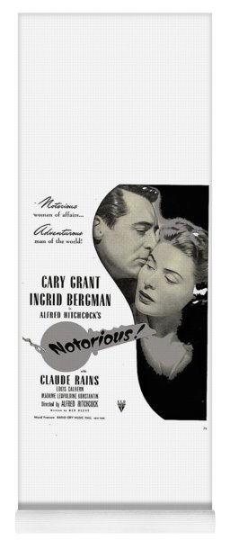 Publicity Poster #1 Notorious  Cary Grant And Ingrid Bergman 1946 2016 Yoga Mat