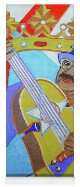 Yoga Mat featuring the painting Puerto Rican Cuatro  - Ten Strings by Denise Weaver Ross