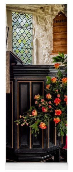 Pulpit And Flowers Yoga Mat