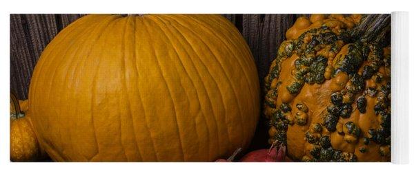 Pumpkin Autumn Still Life Yoga Mat