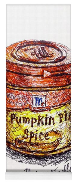 Pumpkin Pie Spice Yoga Mat