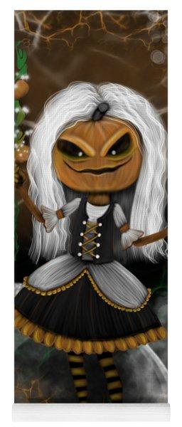 Pumpkin Spice Latte Monster Fantasy Art Yoga Mat