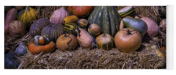 Pumpkins And Hay Blaes Yoga Mat