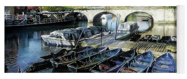 Yoga Mat featuring the digital art Punting On The Thames by Pennie McCracken