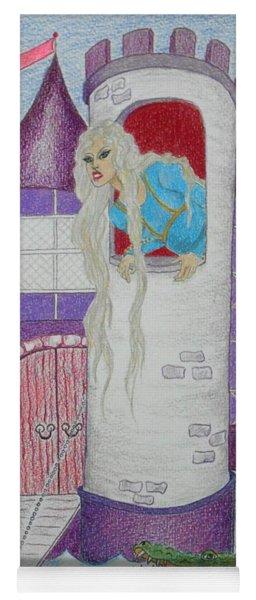 'punzel -- Portrait Of Storybook Character Rapunzel Yoga Mat