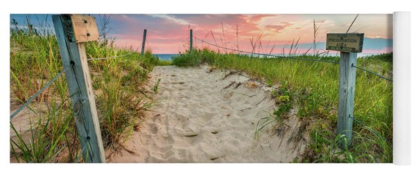 Yoga Mat featuring the photograph Pure Michigan Sunset by Sebastian Musial