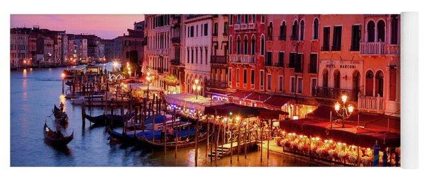 Cityscape From The Rialto In Venice, Italy Yoga Mat