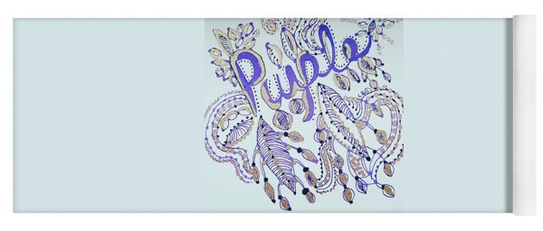 Yoga Mat featuring the drawing Purple 1 by Carole Brecht