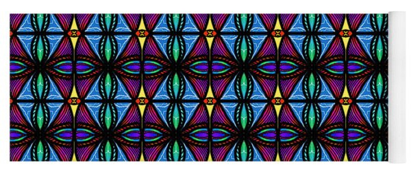 Purple And Blue Diamonds Yoga Mat