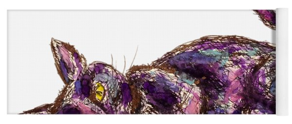 Purple Cat Yoga Mat