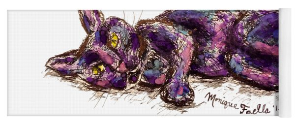 Purple Cat Yoga Mat