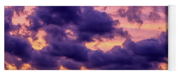 Purple Clouds Yoga Mat