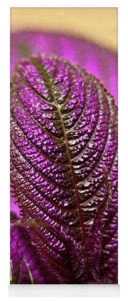 Purple Coleus Yoga Mat