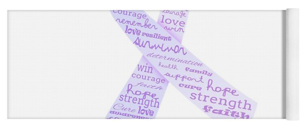 Purple Courage Yoga Mat
