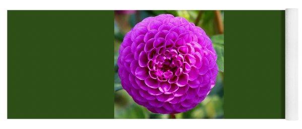 Purple Dahlia Yoga Mat