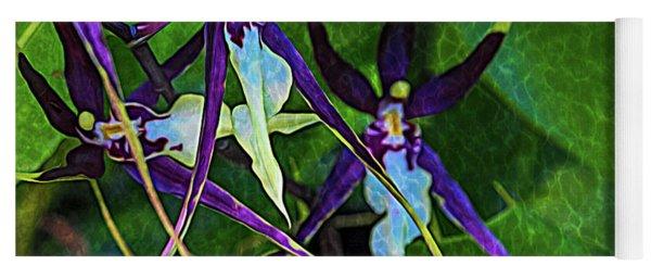 Yoga Mat featuring the photograph Purple Dancers by Richard Goldman