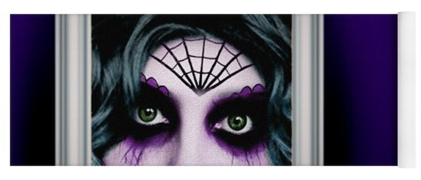 Purple Eye Zombie Woman Yoga Mat