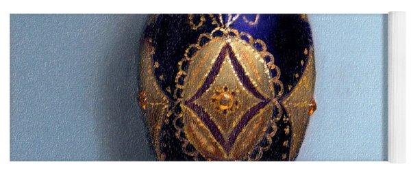 Purple Filigree Egg Ornament Yoga Mat