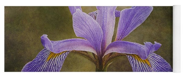 Yoga Mat featuring the photograph Purple Flag Iris by Patti Deters