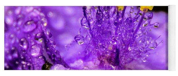 Purple Flower After The Rain Yoga Mat