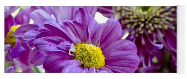 Purple Flower In Cold Light. Yoga Mat